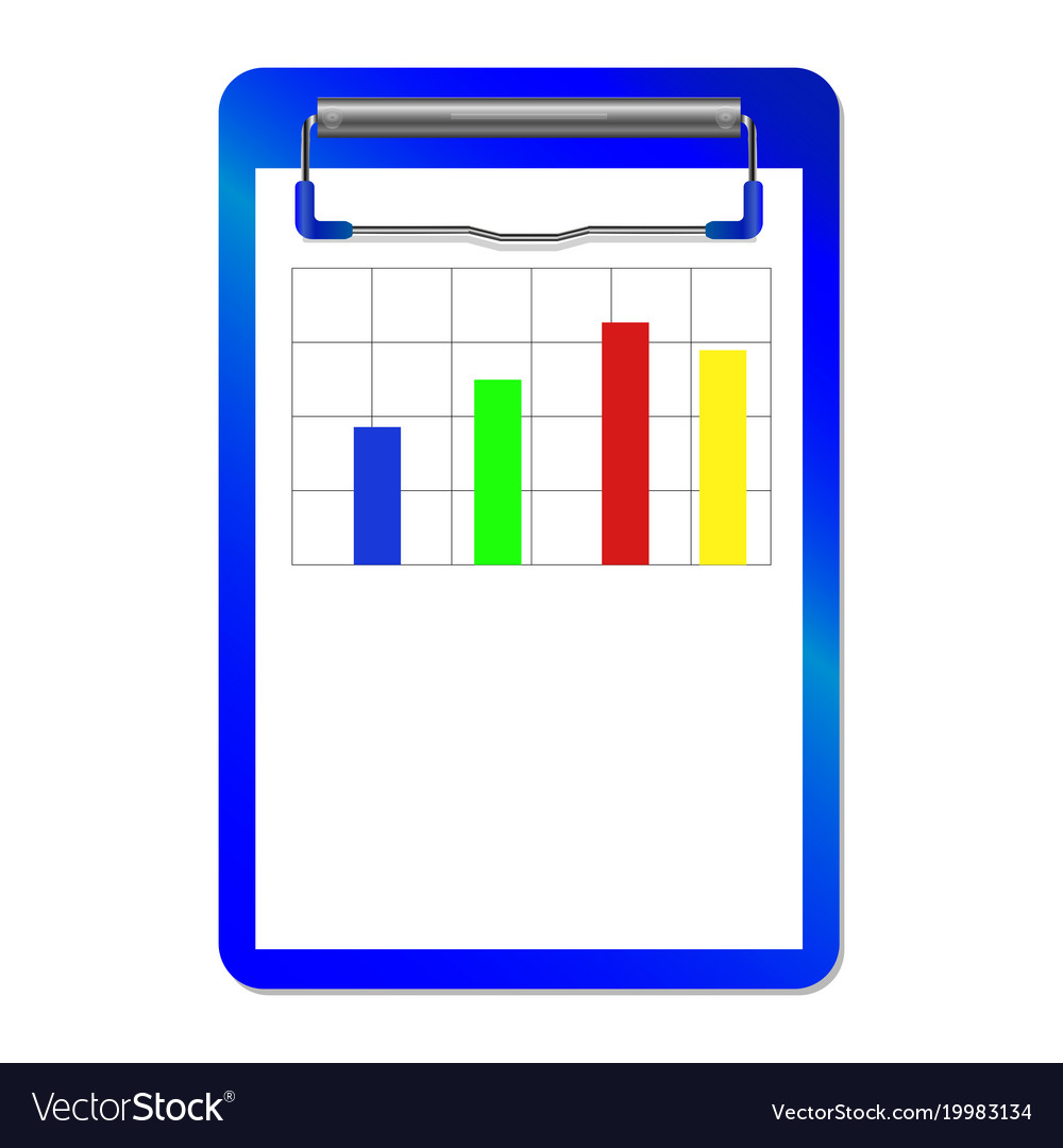 Folder with clipwith diagram