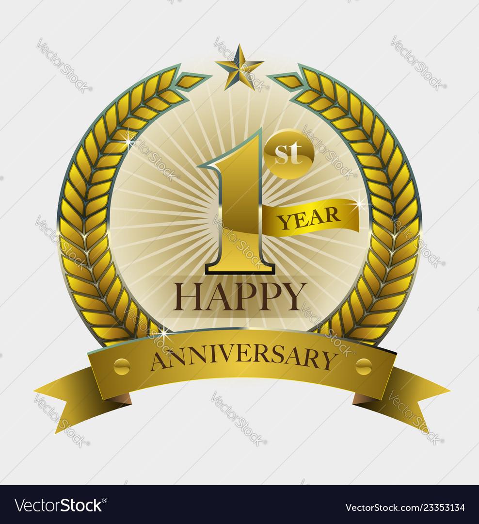 happy anniversary symbol royalty free vector image vectorstock