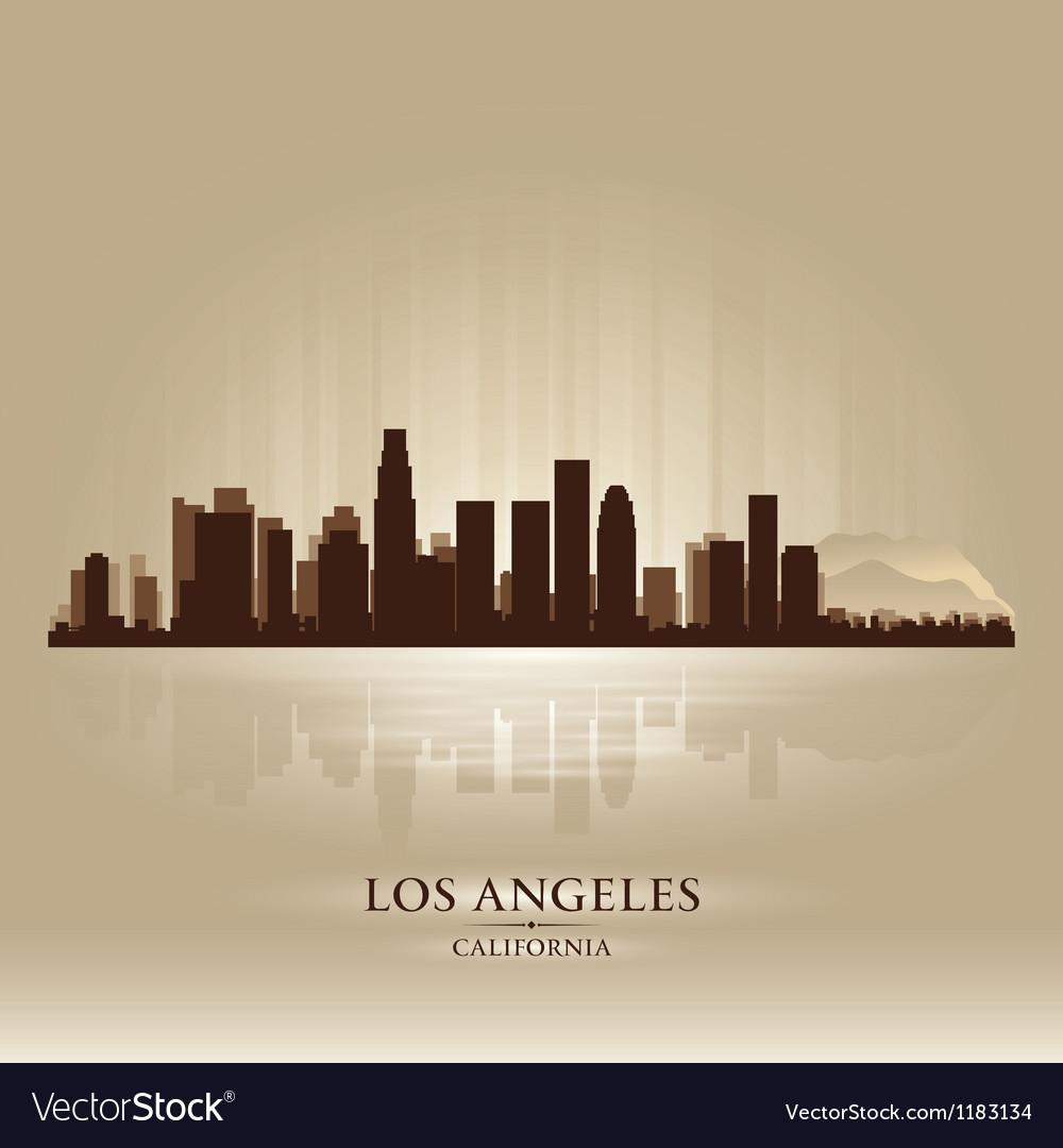 Los Angeles California skyline city silhouette