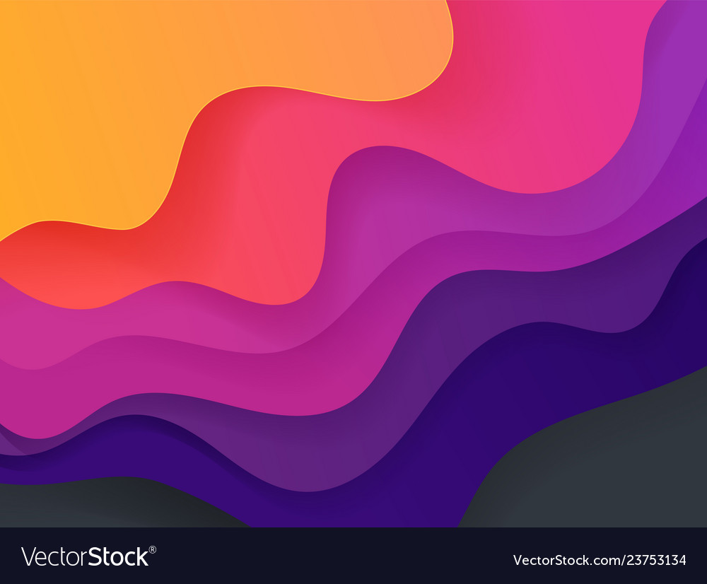 Vivid color abstract geometric background fluid