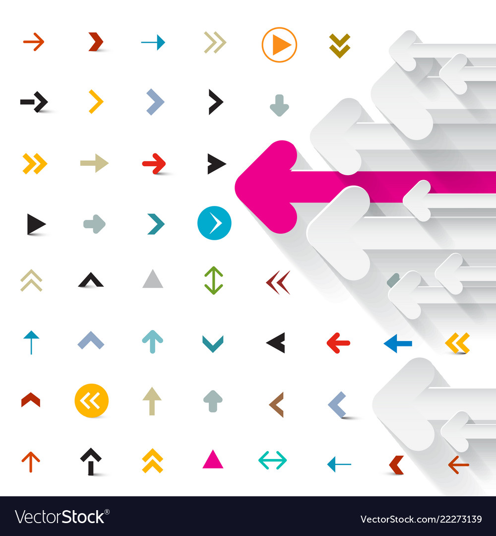 Arrows background arrow icons