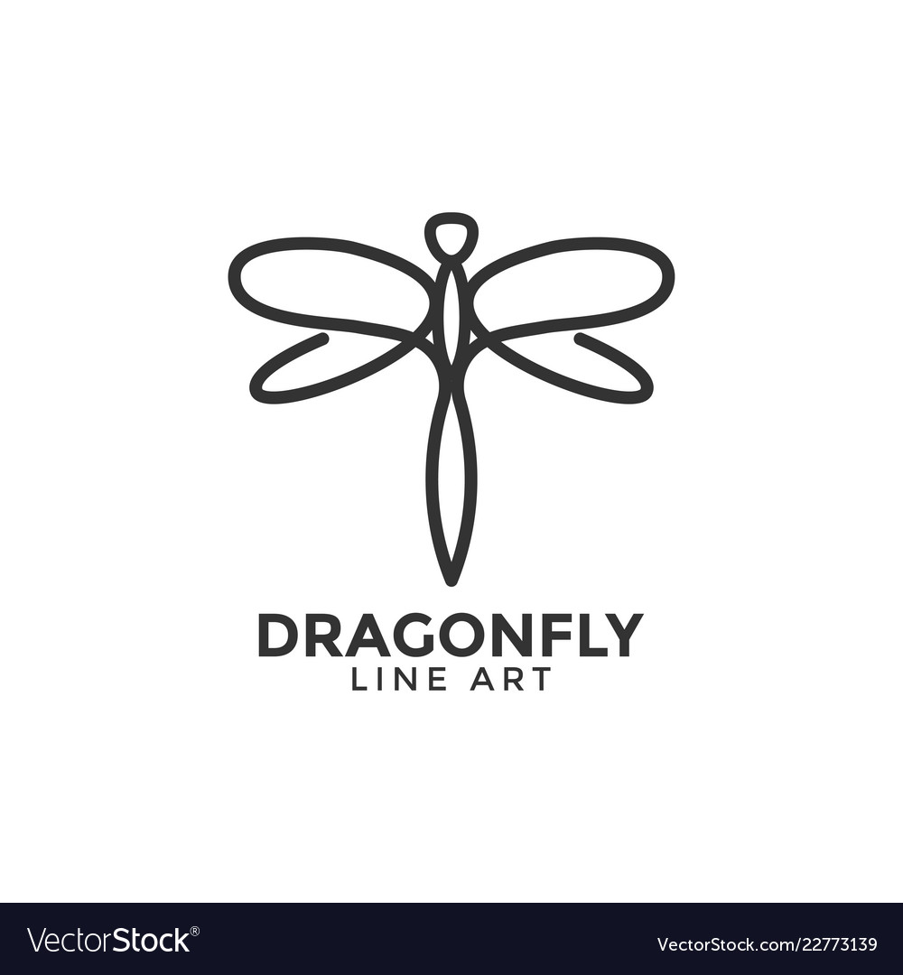 Dragonfly graphic design template