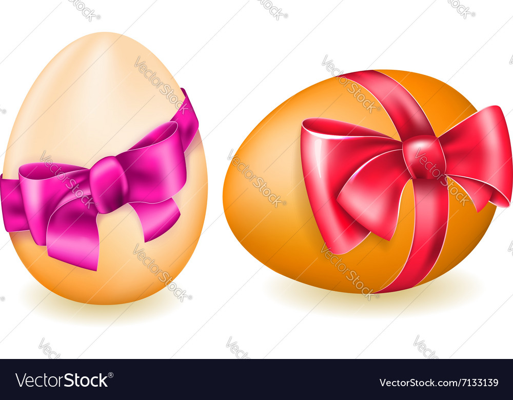 Easter egg with bow