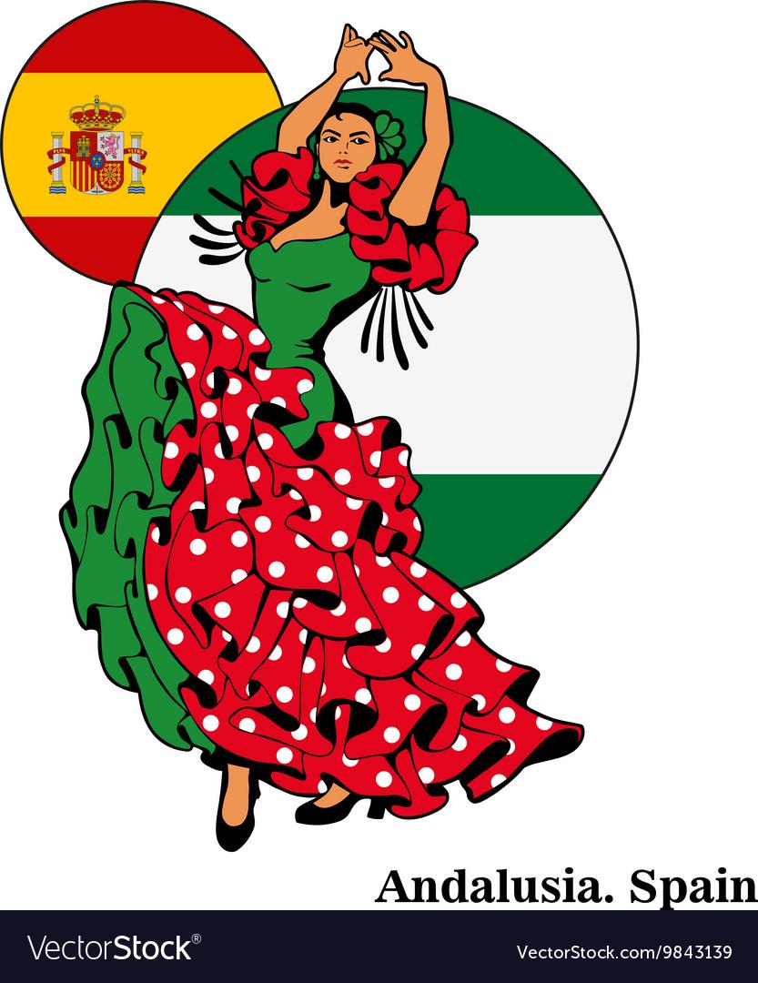 Flamenco in Andalusia woman in dance