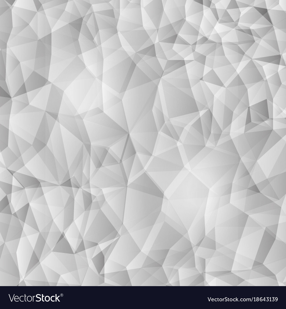 Modern black and white polygon new style detail vector image