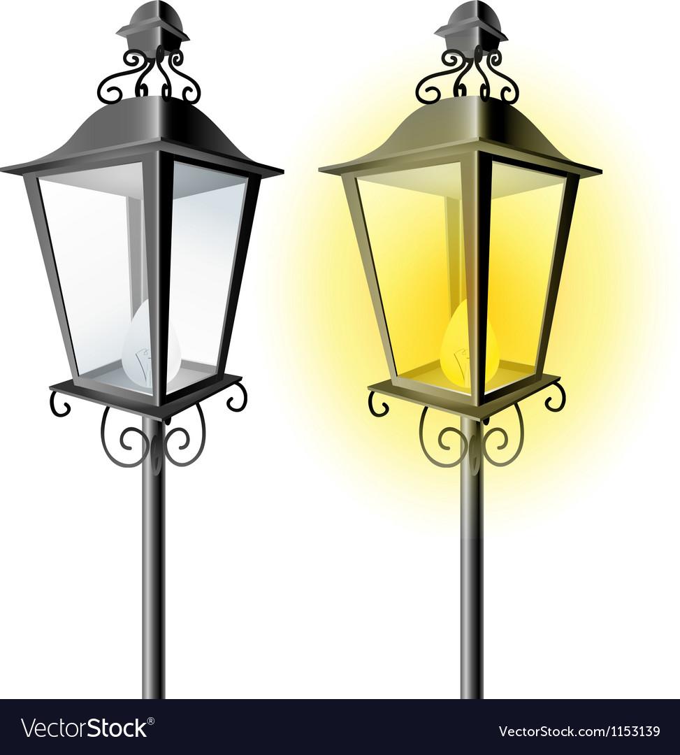 old vintage street lamp royalty free vector image
