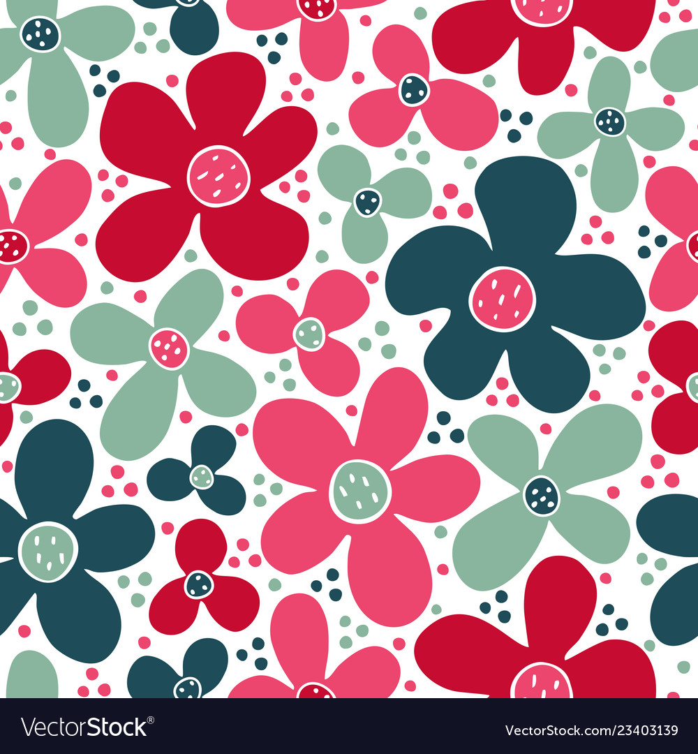 Seamless children pattern with blue and pink
