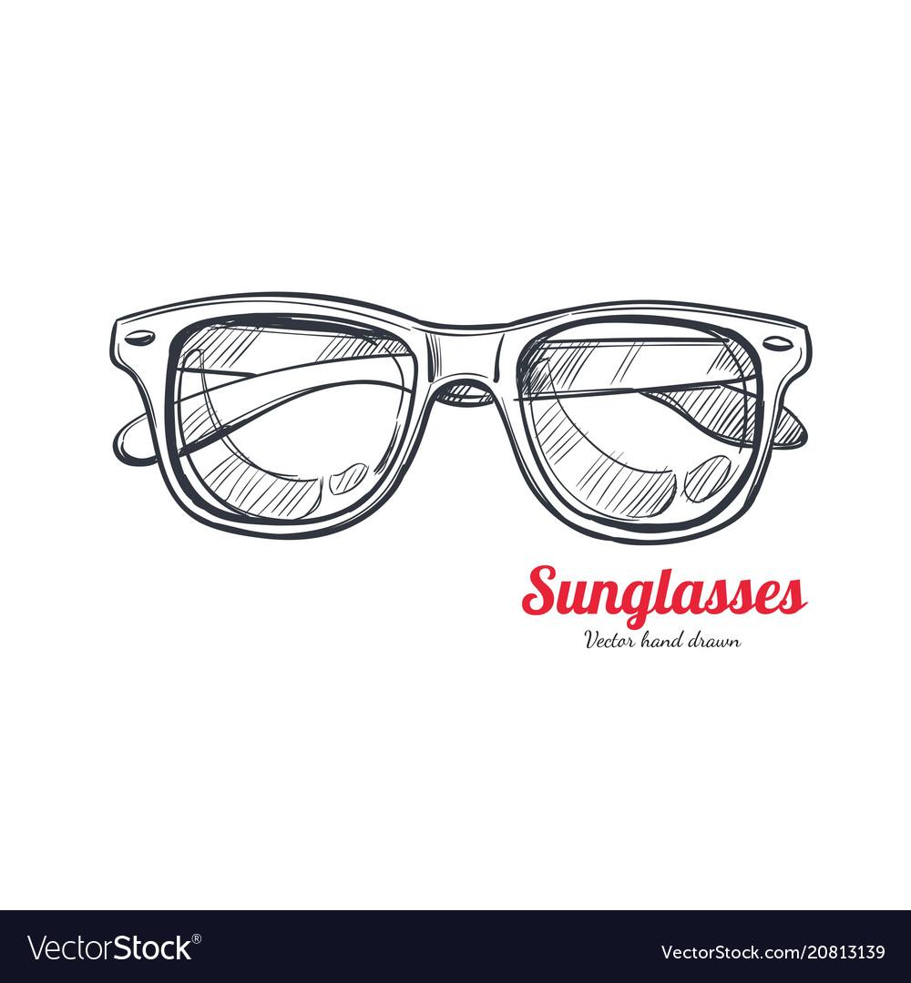 Sunglasses hand drawn 1