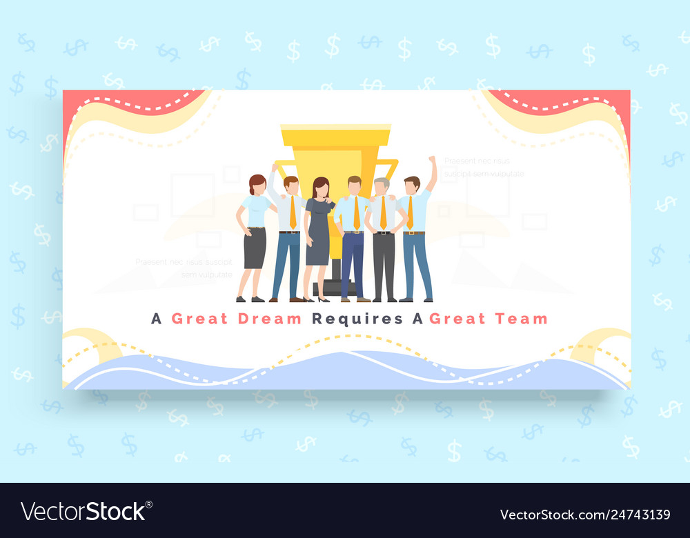 Team celebrate together good teamwork partnership