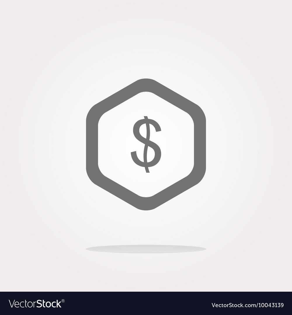 Web icon cloud with dollars money sign