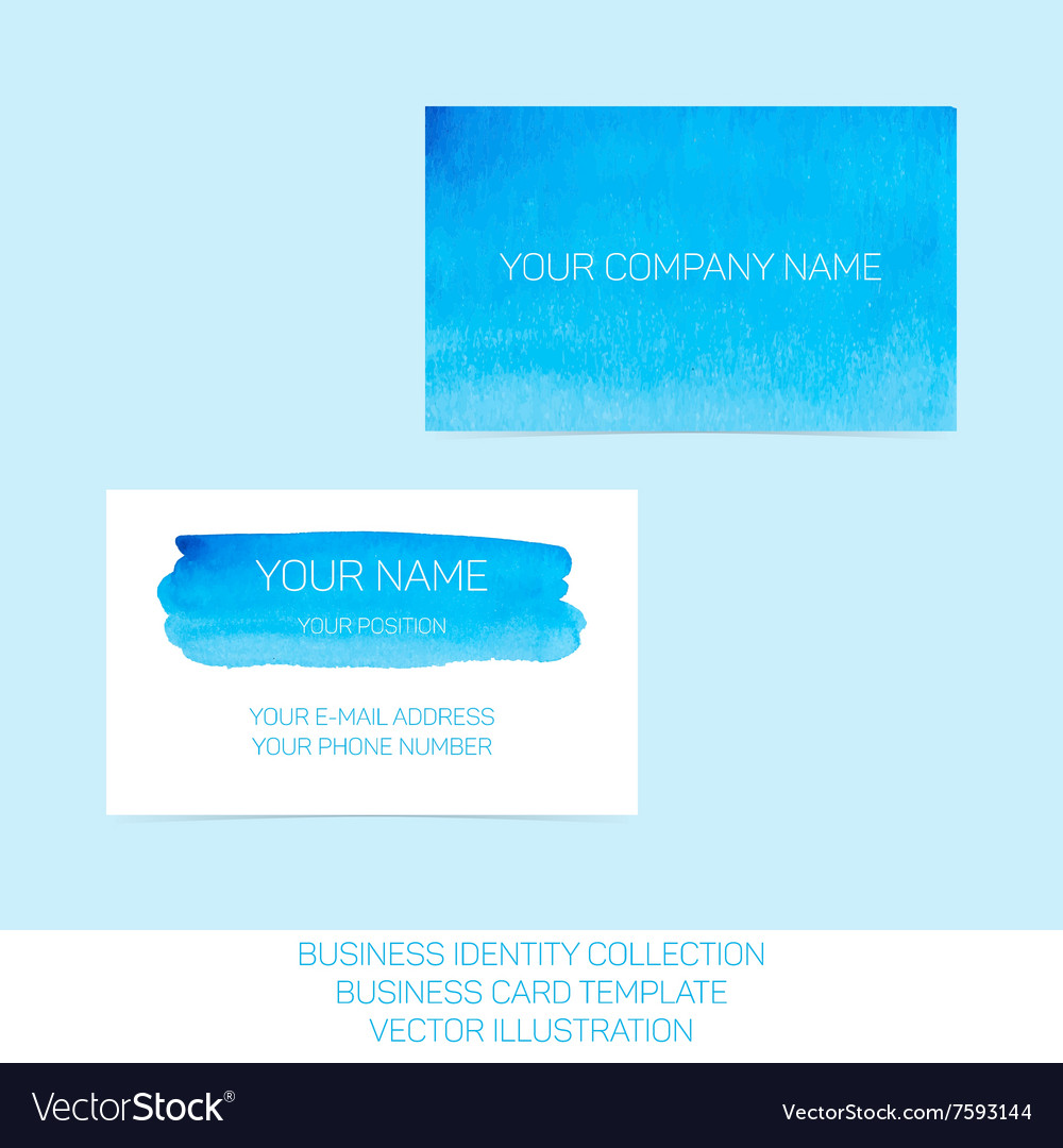 Business identity collection Blue and turquoise