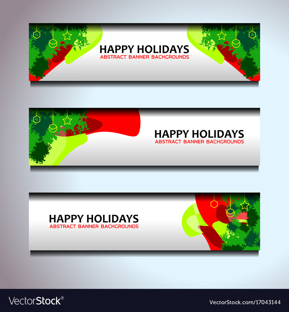 christmas new year banners header vector image