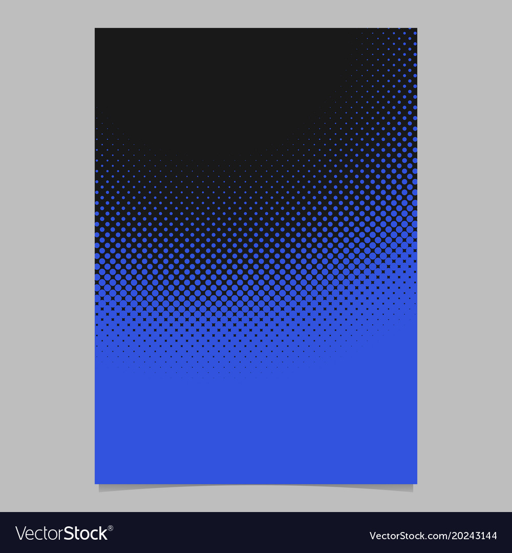Geometric abstract halftone dot pattern brochure