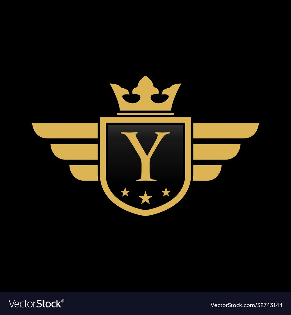 Letter y shield wing