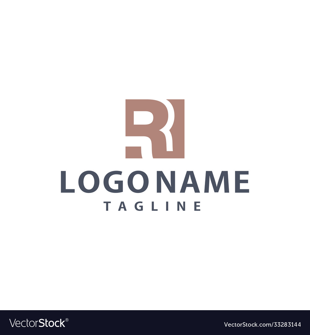 R square unique logo design inspiration
