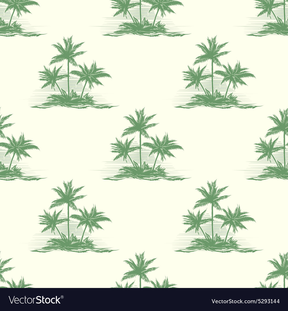 Vintage floral or summer seamless pattern with vector image