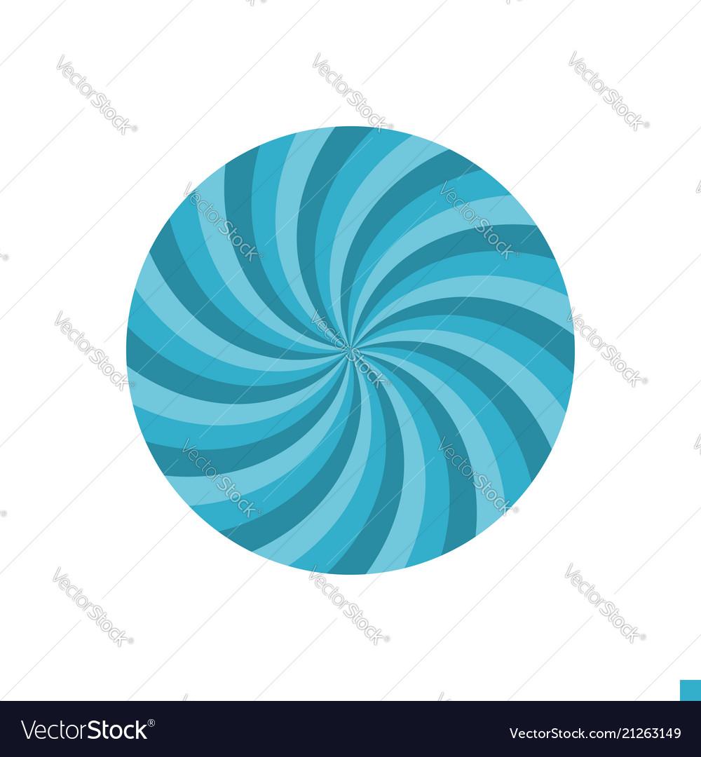 Abstract circle flat icon