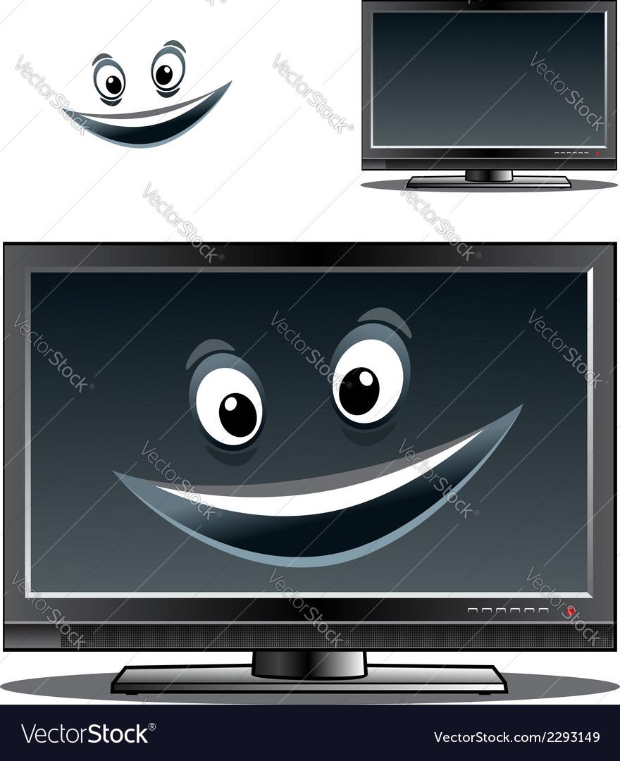 Happy computer monitor or tv scren