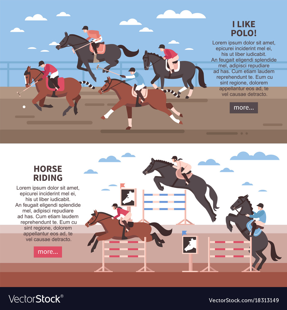 Horse riding and polo banners