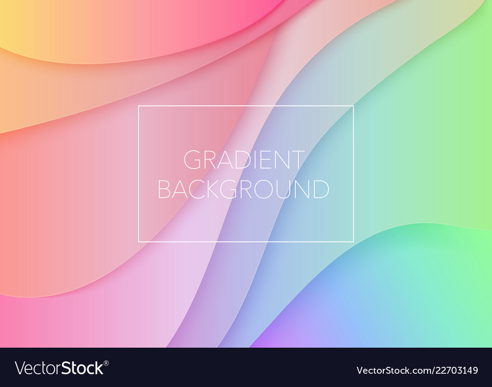 Paper art cartoon abstract waves trendy gradient