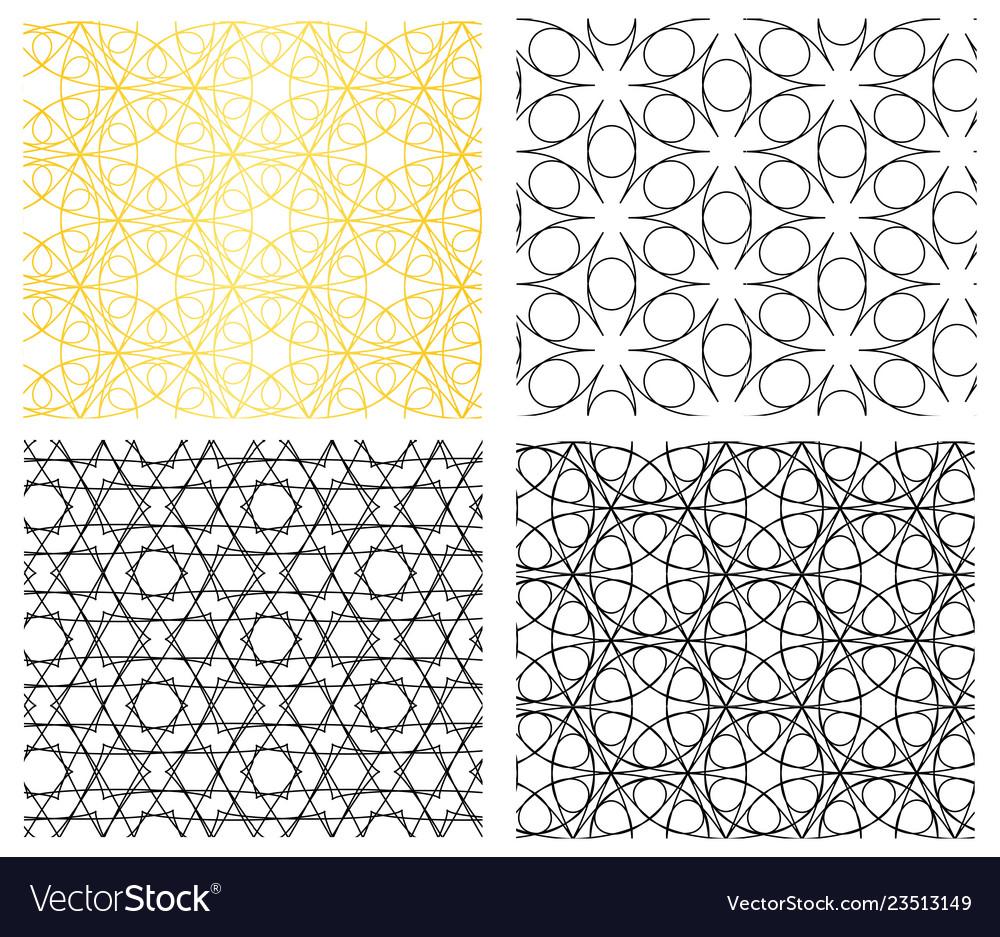 Seamless geometric curve line pattern