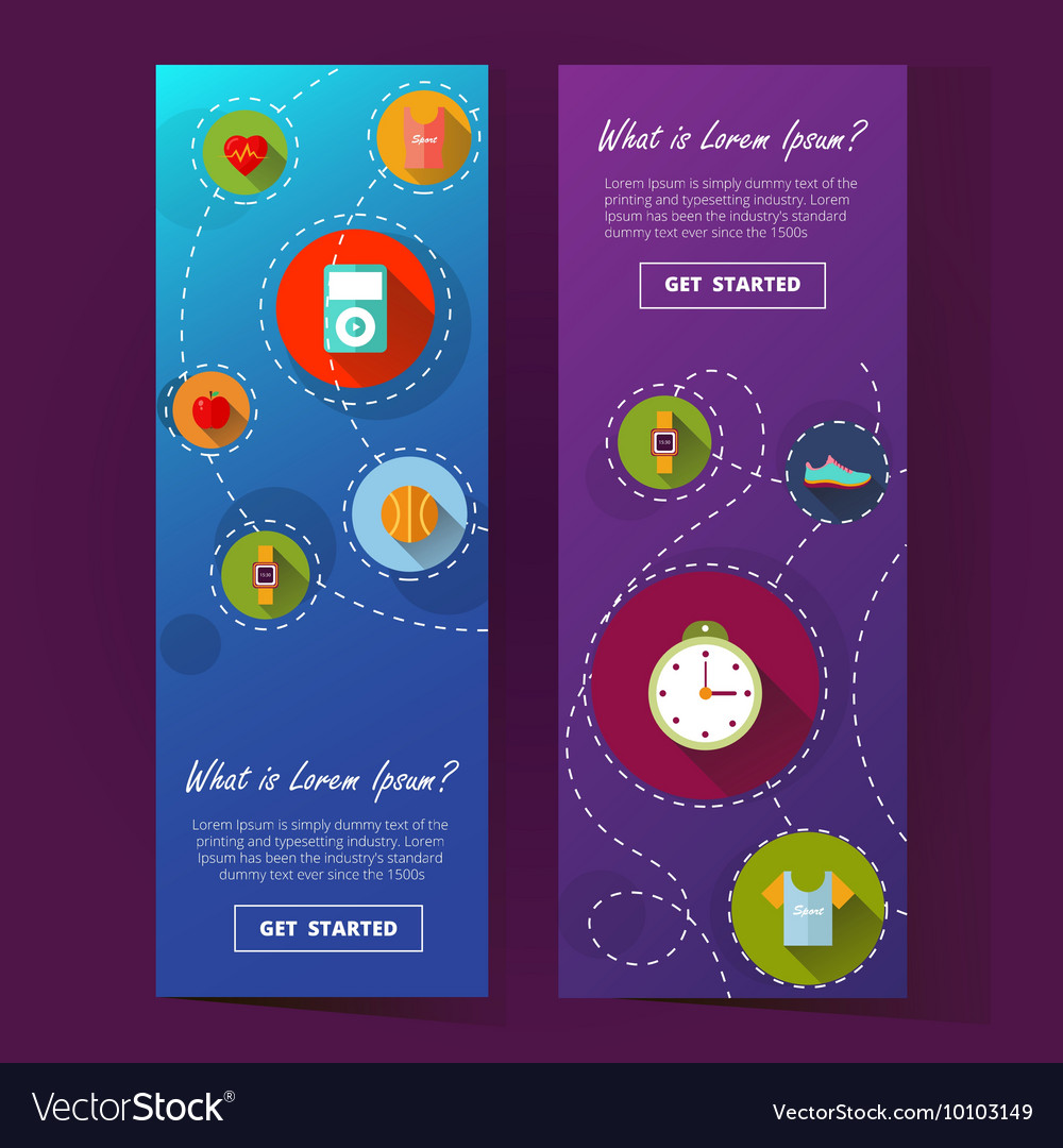 Two cool vertical banner ilustration