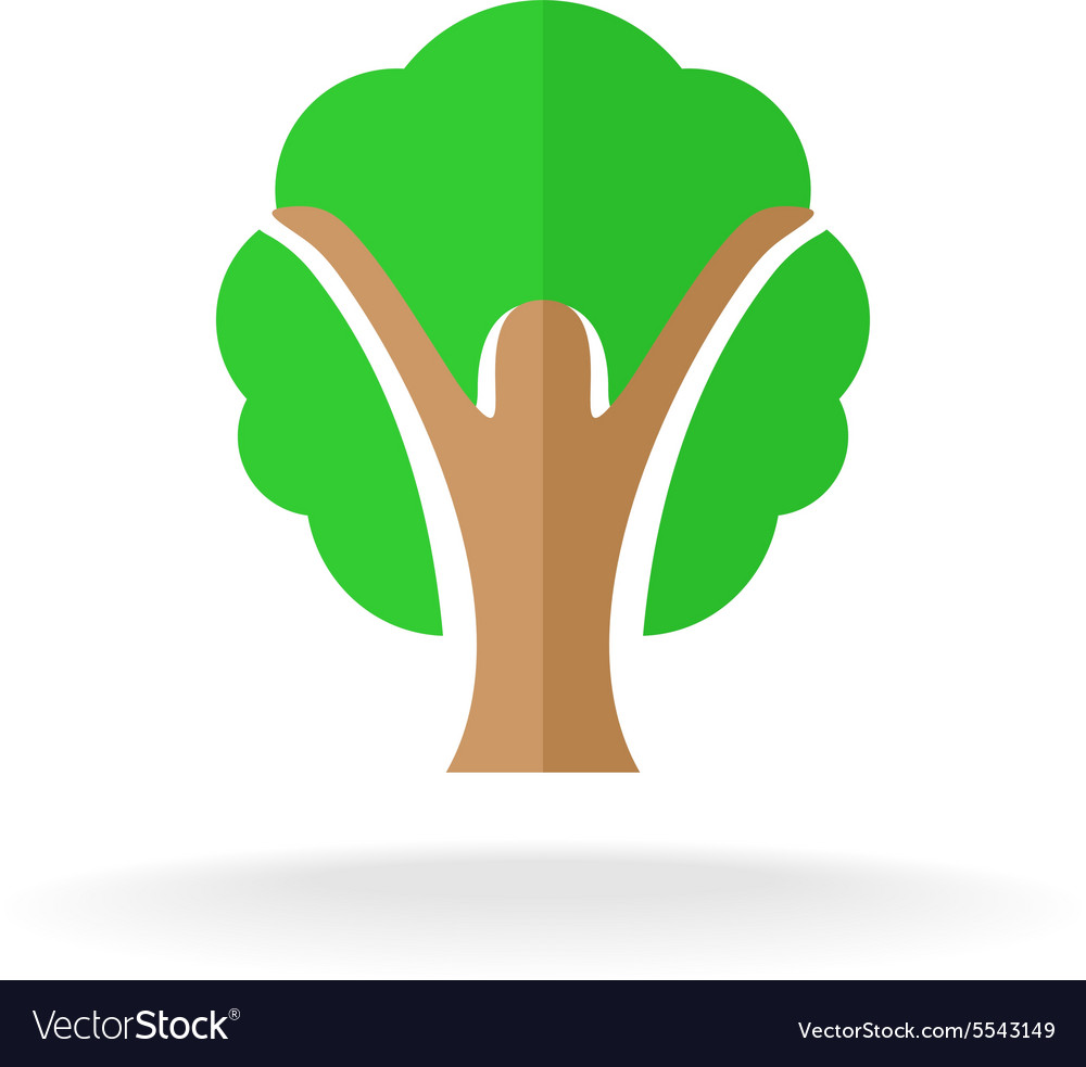 Woman silhouette tree logo