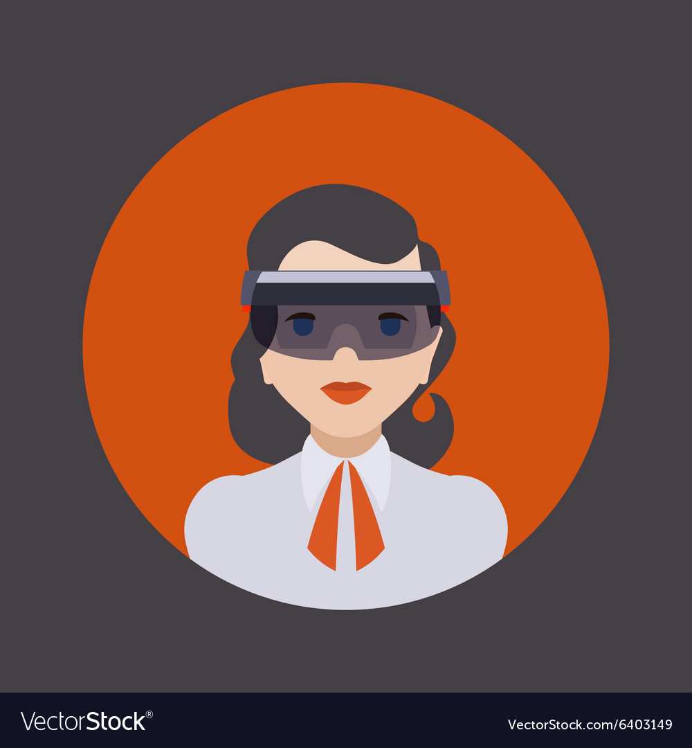 Women in the virtual reality headset