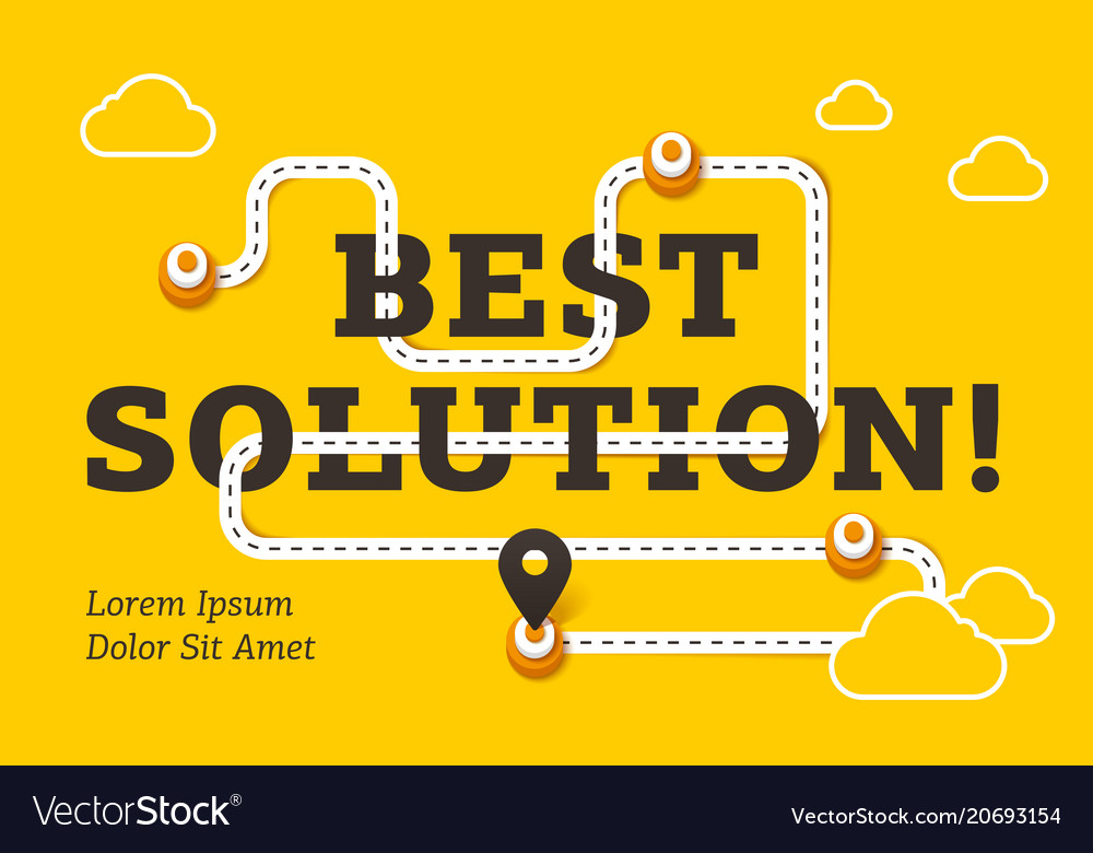Best solution business concept with winding road