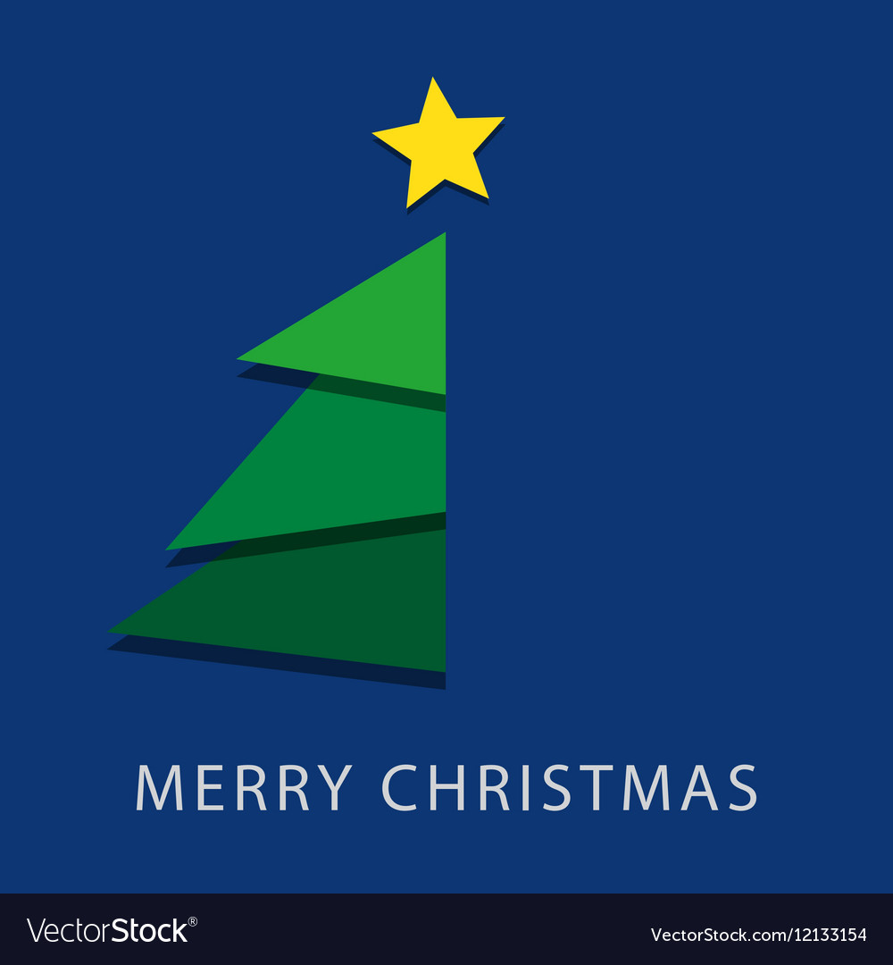 Blue wishes with text - Christmas tree and star
