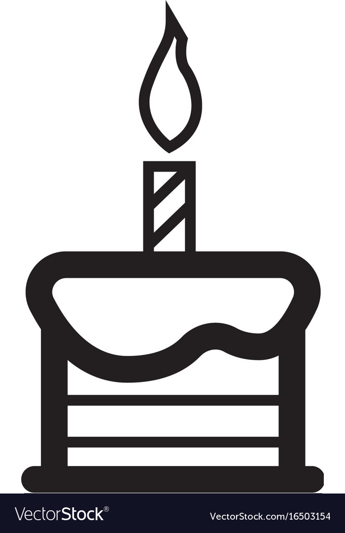 Candle on the cake vector image