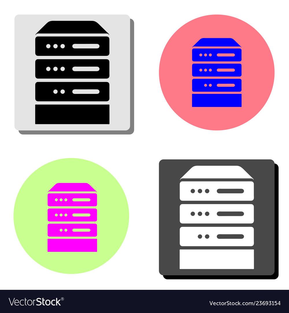 Computer server flat icon