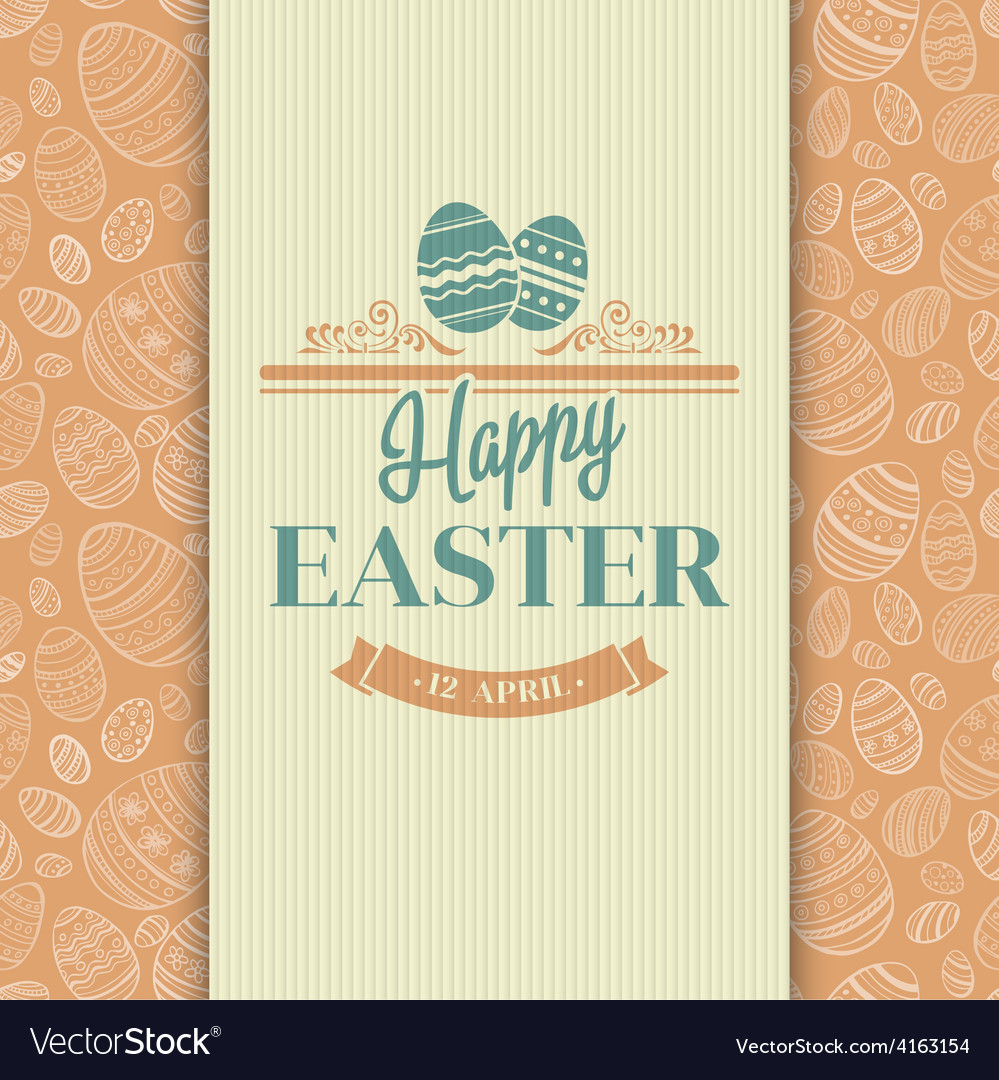 Easter greeting card holiday typography