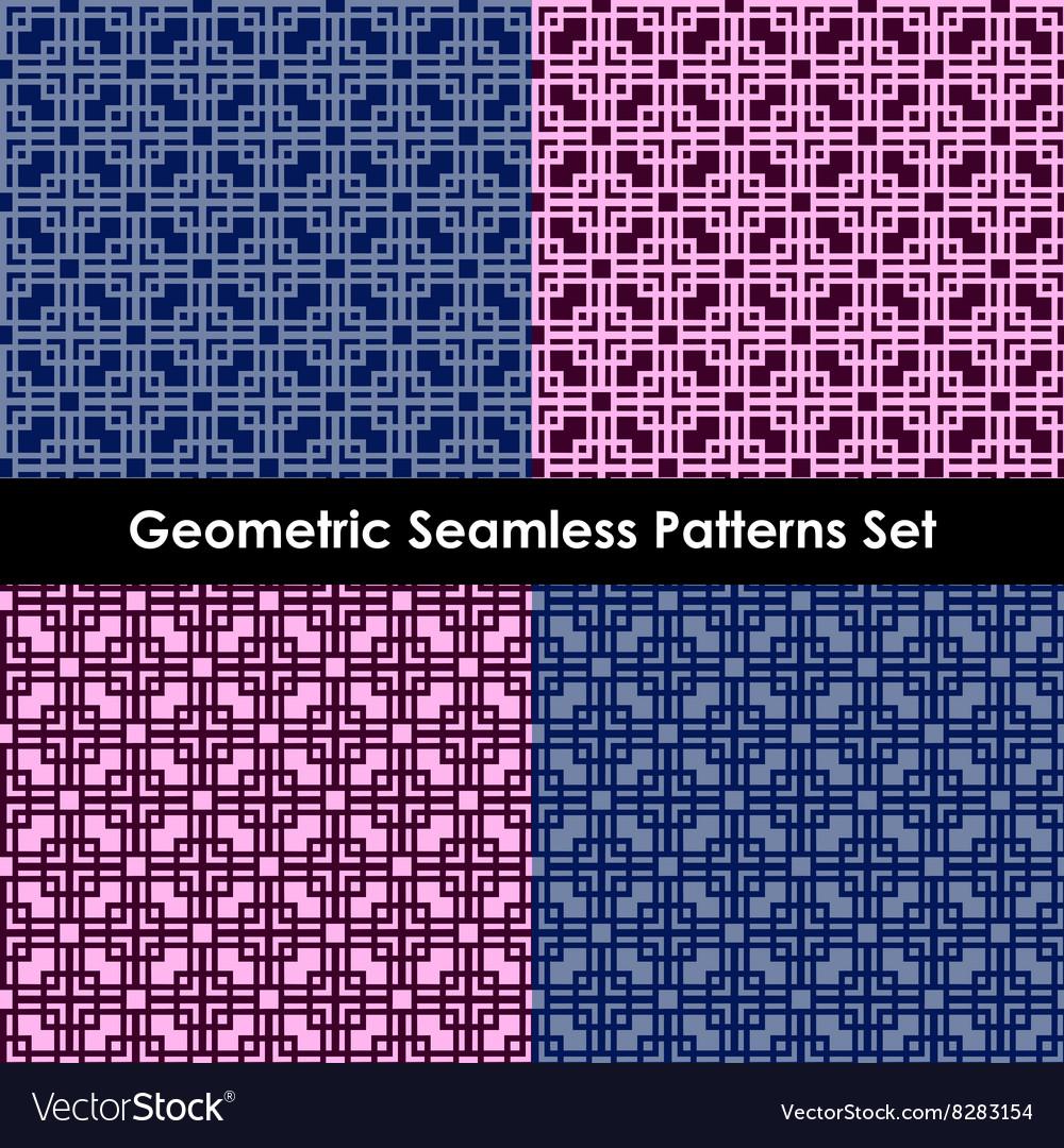 Geometric seamless patterns EPS 10 vector image