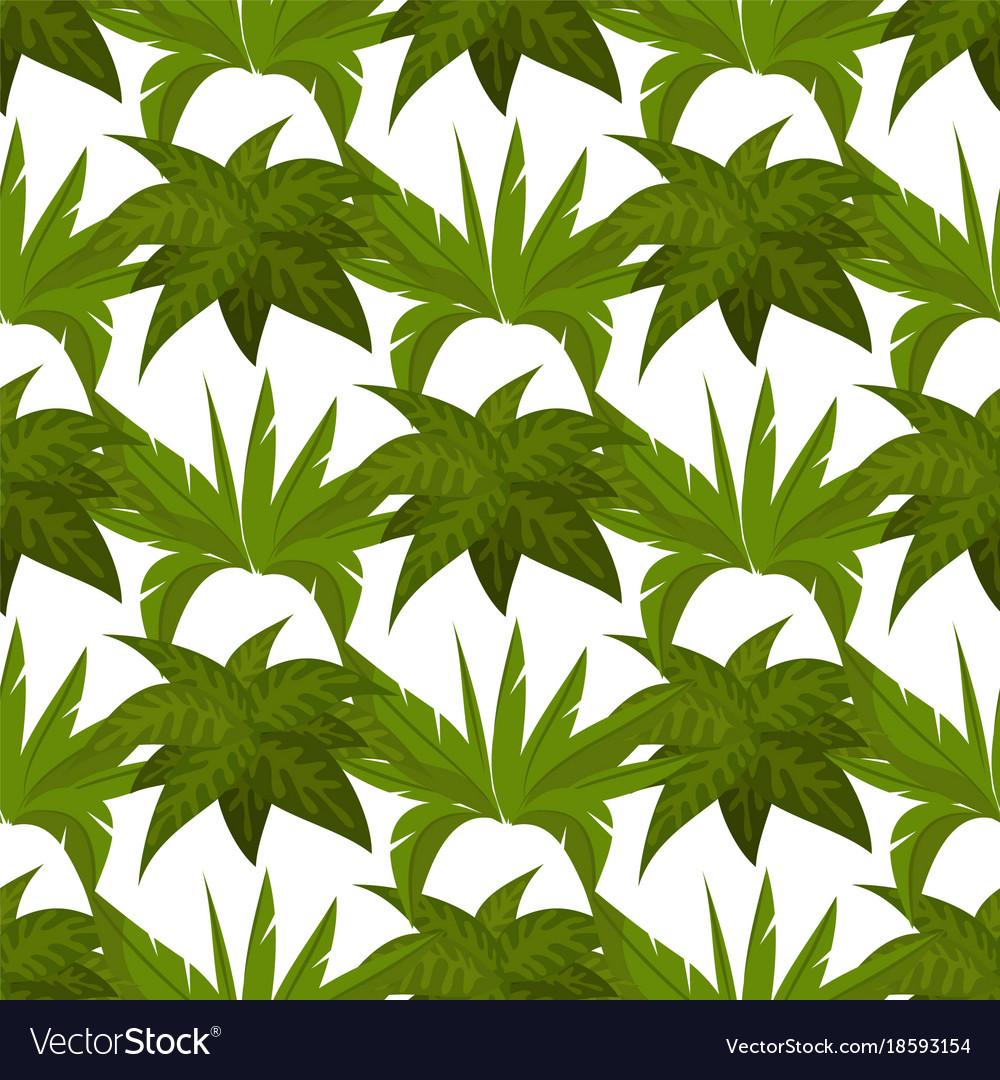 Green plants seamless pattern design