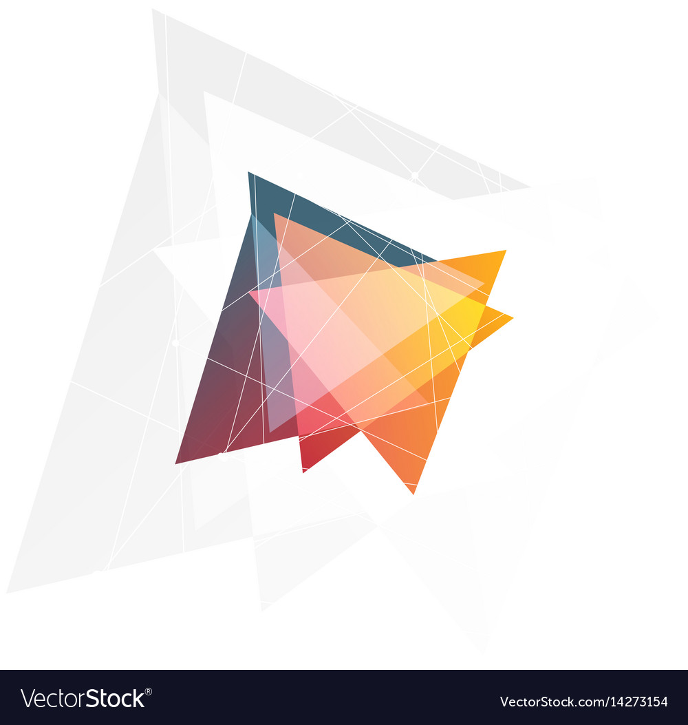 Isolated abstract pink and orange color triangle