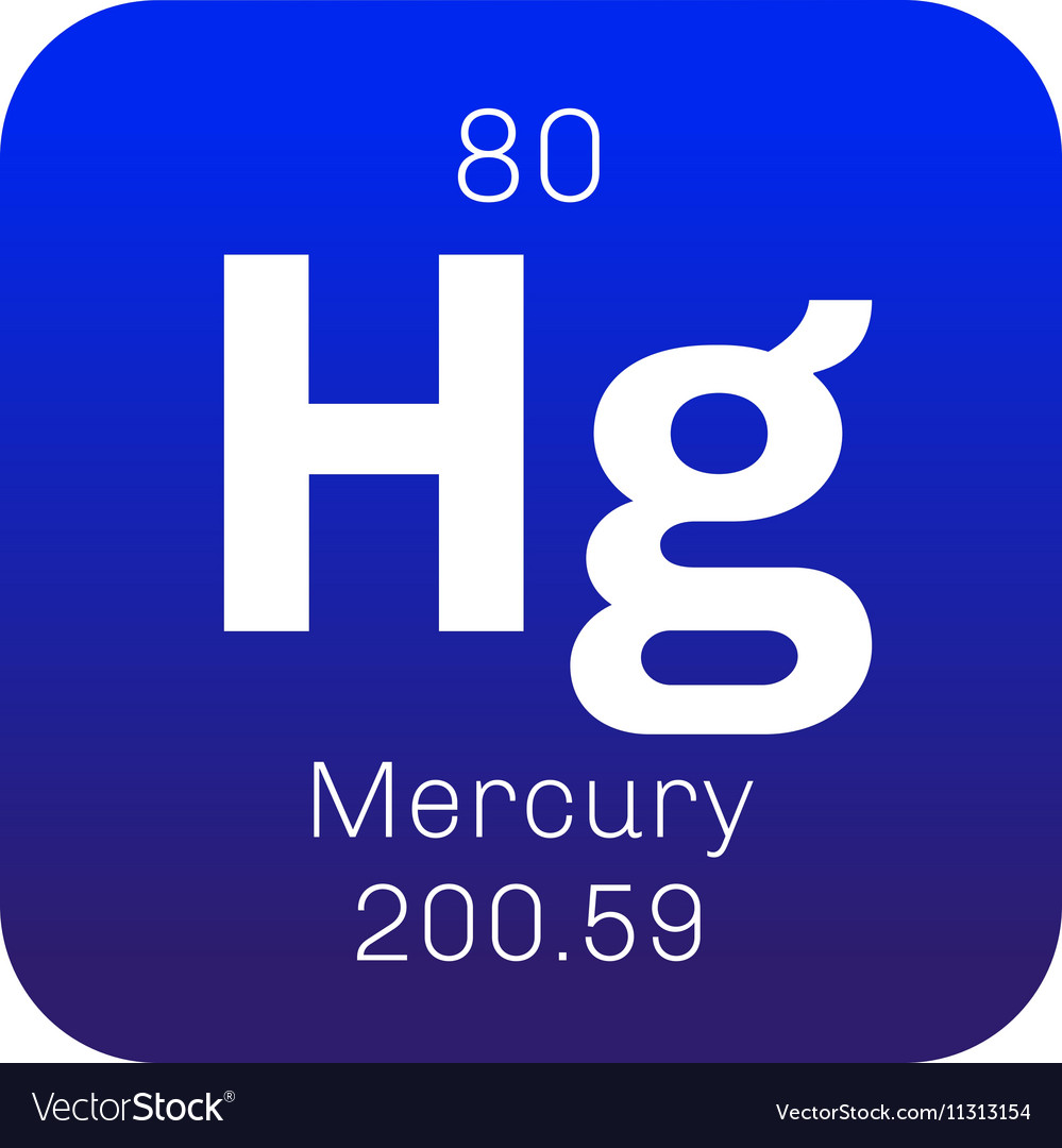 Mercury chemical element royalty free vector image mercury chemical element vector image urtaz Choice Image