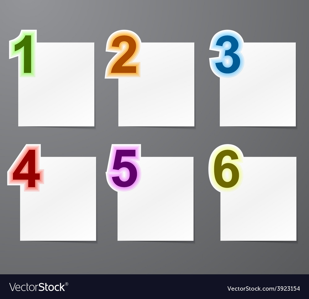 numbered list design royalty free vector image