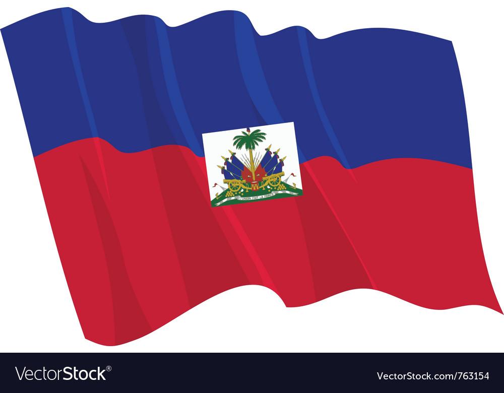 Political waving flag of haiti