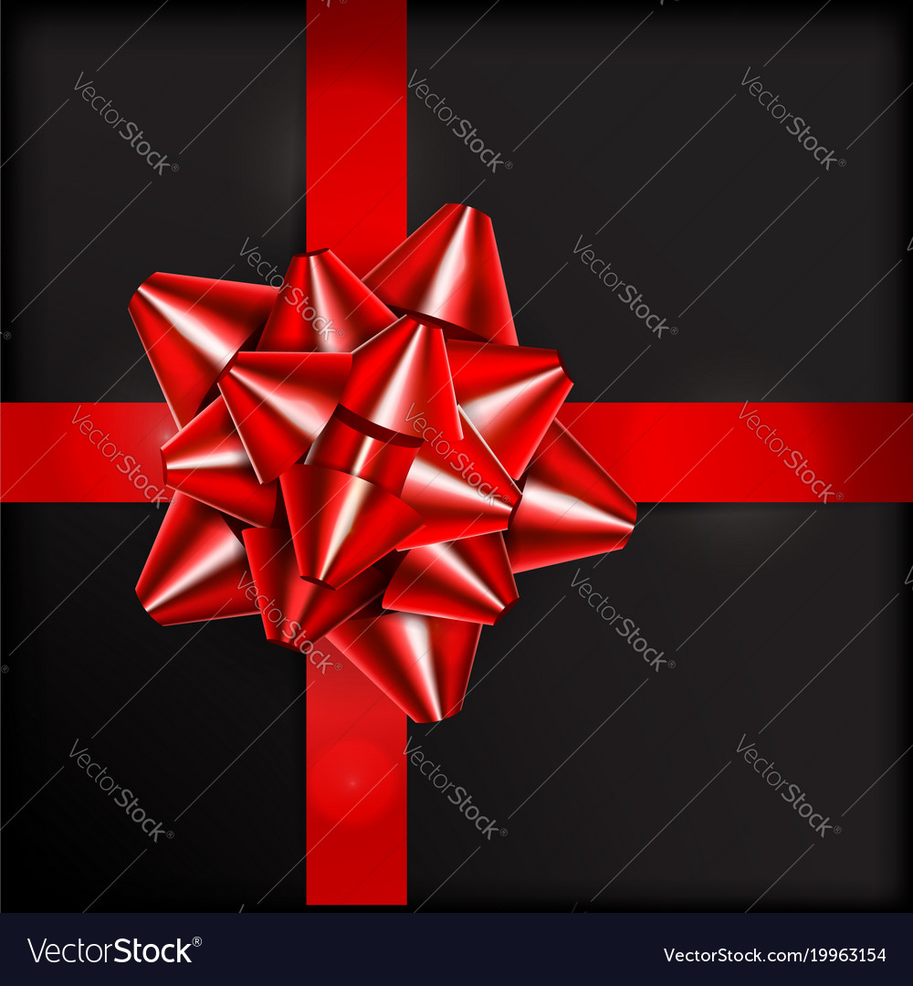 Red bow for packing gifts