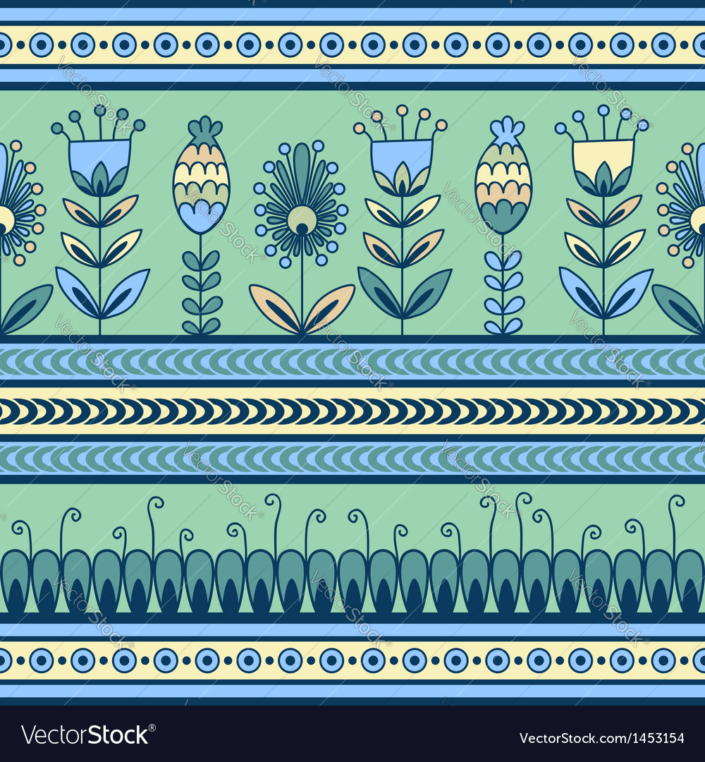 Seamless pattern with floral ornament in decor