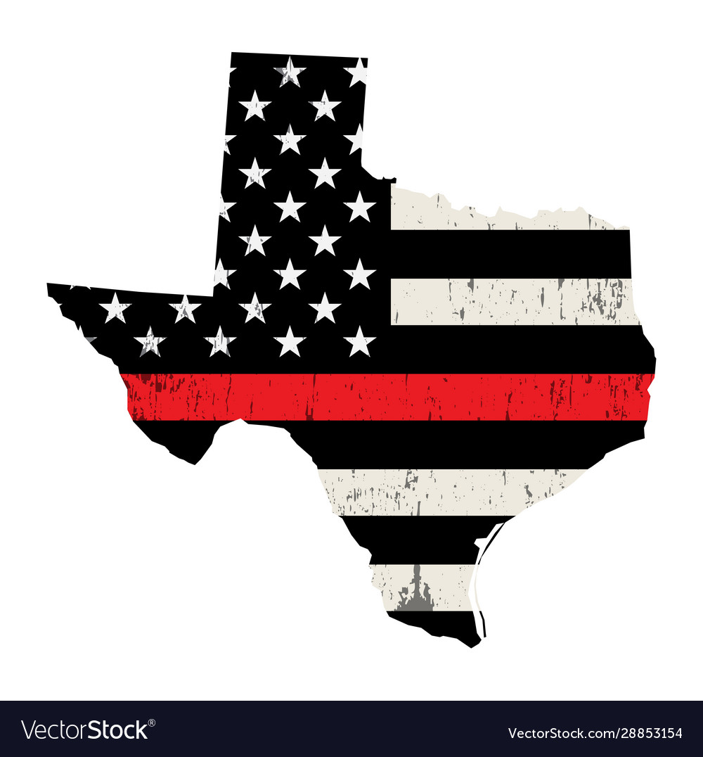 State texas firefighter support flag