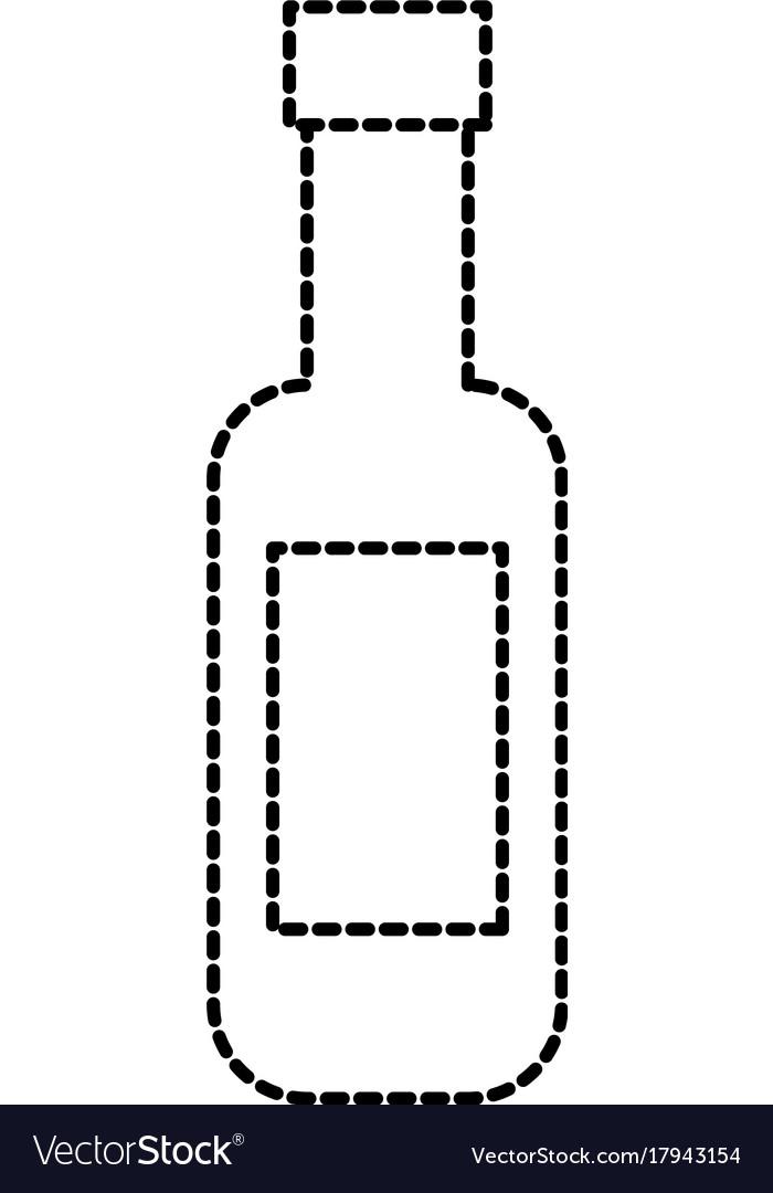 Wine bottle restaurant bar beverage vector image