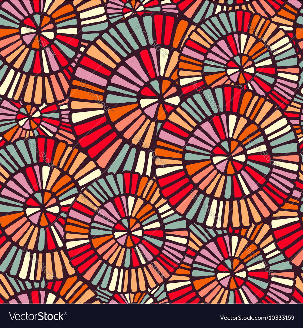 Background pattern with colorful circle mosaic art