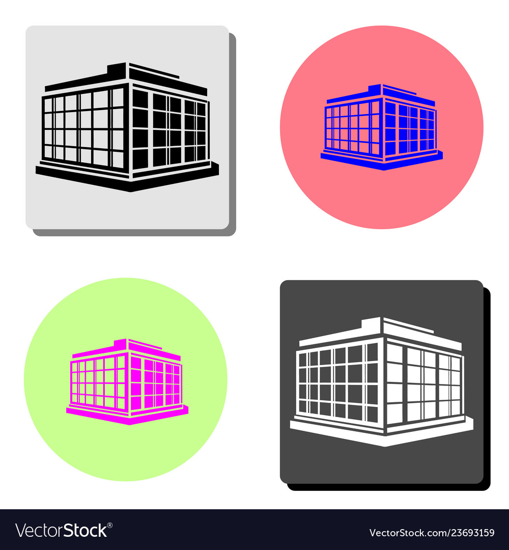 Commercial Office Building Flat Icon Royalty Free Vector