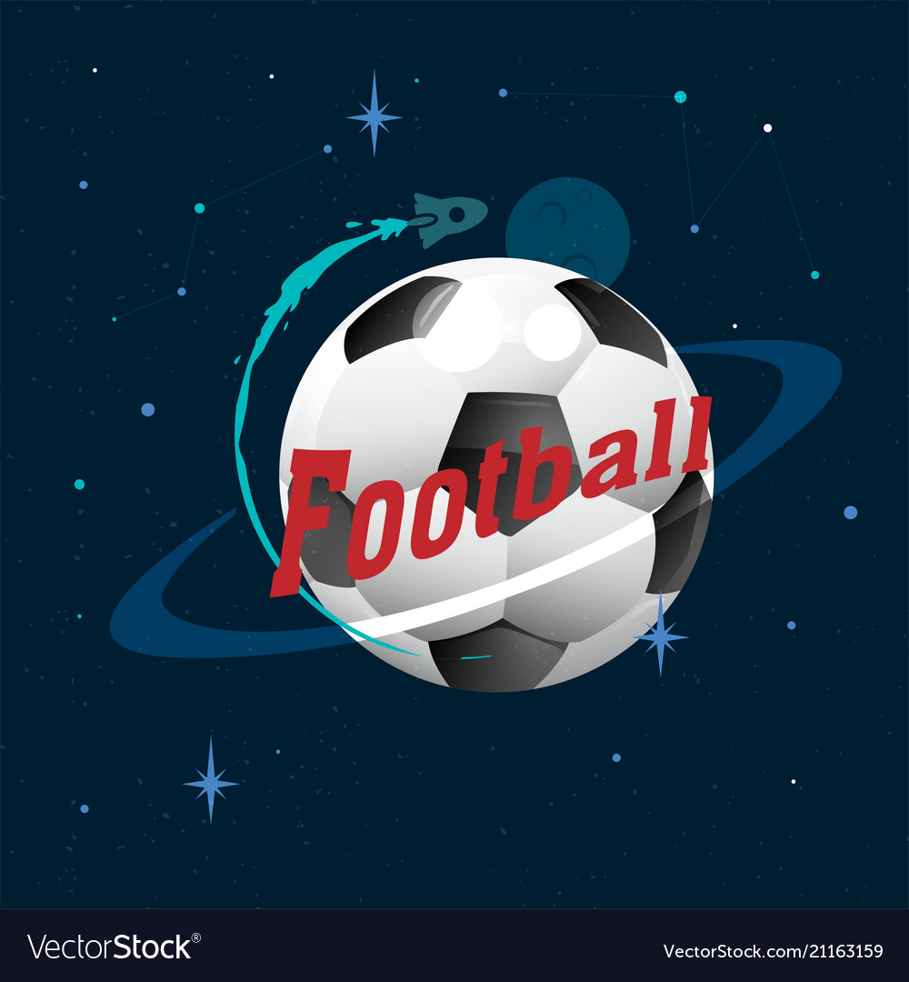 Football planet design space background ima