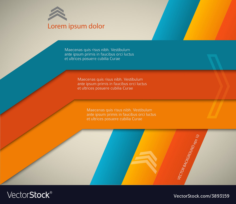 Horizontal Page Brochure Cover Lines Background Vector Image