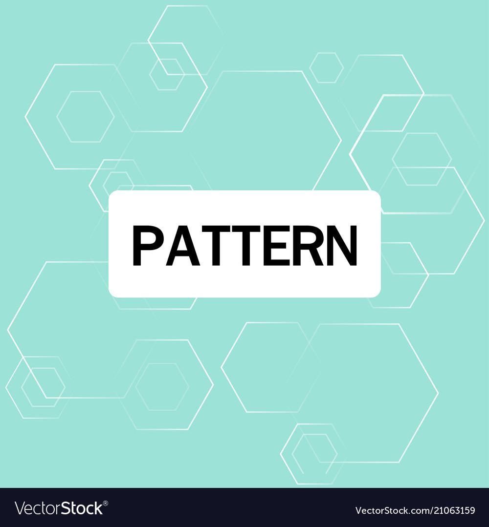 Modern overlap hexagon pattern blue background vec vector image
