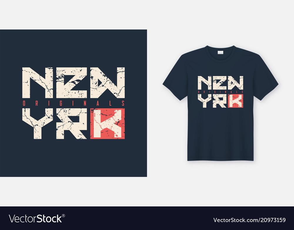 New york textured t-shirt and apparel design