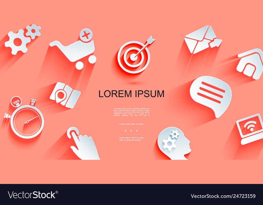 Paper web elements background